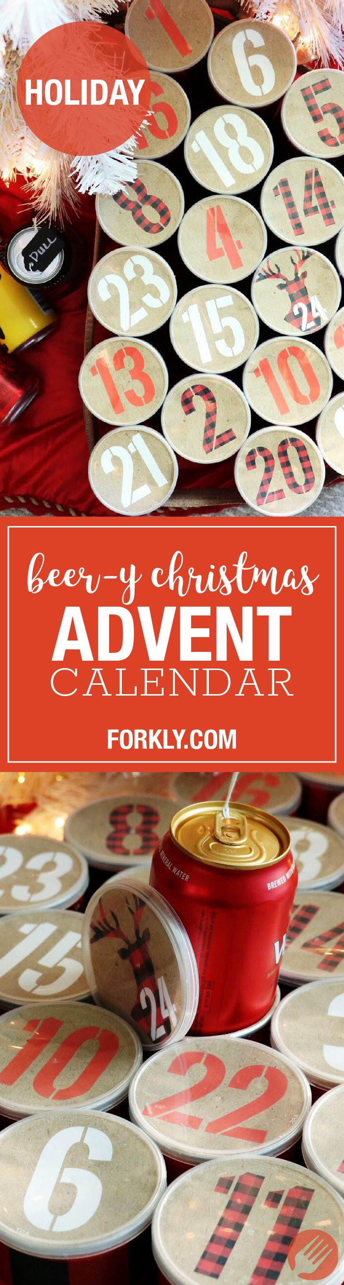 Beer-y Christmas Advent Calendar - http://m.forkly.com/recipes/beer-y-christmas-advent-calendar/