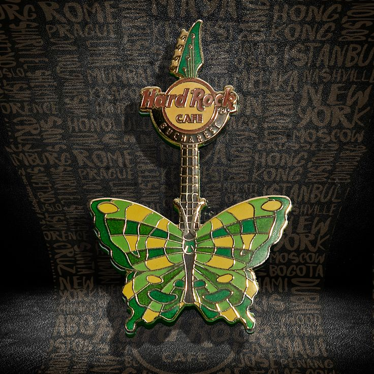 Butterfly Guitar Pin #pins #hardrockcafebucharest