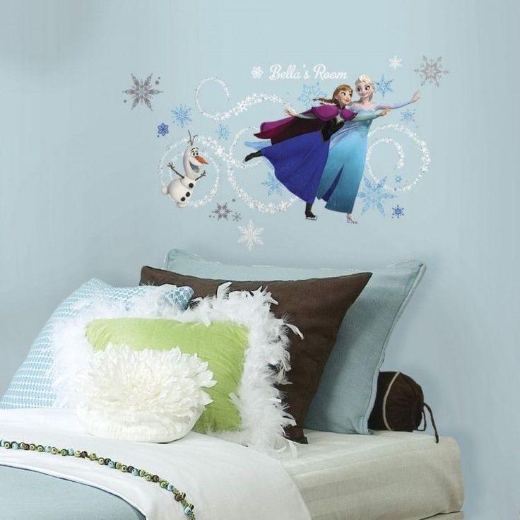 Frozen Wall Decals Elsa Anna Olaf Peel & Stick Giat Decals Custom Headboard New #Roommates #DisneyFrozen