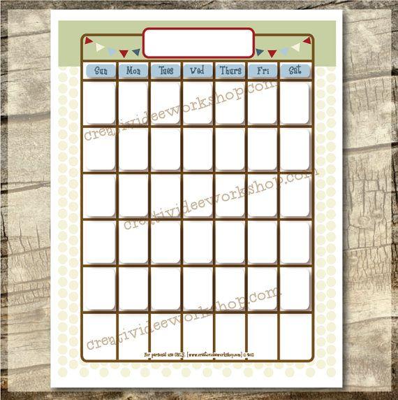 10 best month charts images on Pinterest Preschool, Reading - blank sticker chart