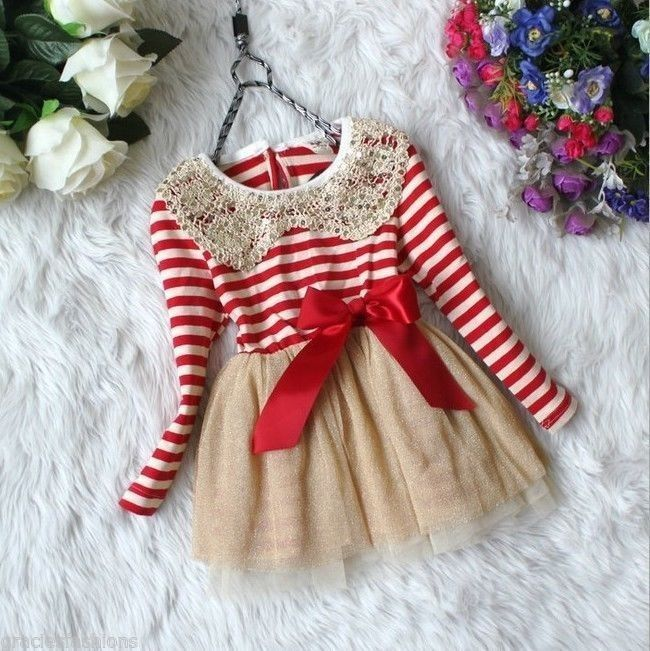 Dress Girl Size 2T 3T 5T Crochet Sequins Collar Chiffon Tutu Skirt Princess  NEW #DressyEverydayHoliday