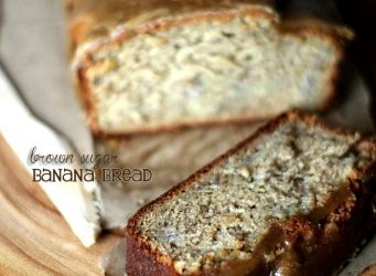 Коричневый сахар банановый хлеб с коричневым сахаром глазури |  Печенье и Кубки