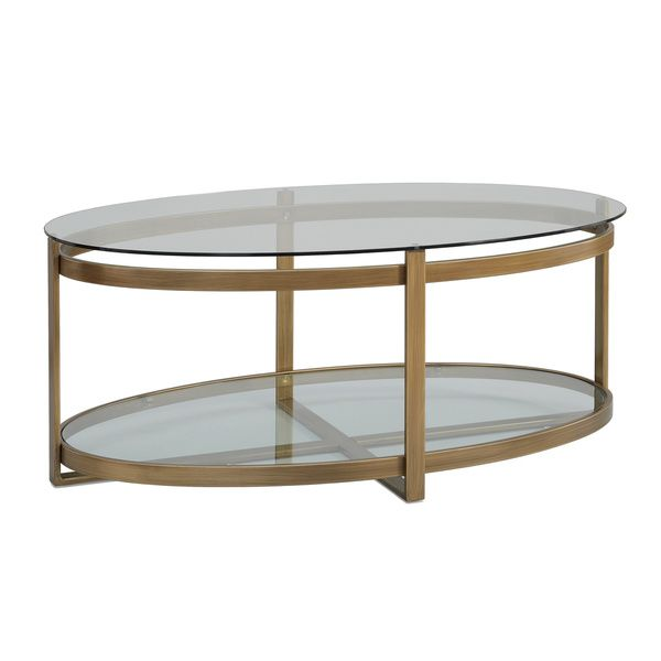 Retro Glitz Glass/ Metal Coffee Table   Overstock™ Shopping   Great Deals  On Coffee
