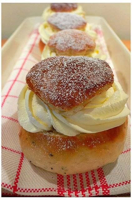 In Finland we celebrate Shrove Tuesday by baking Shrove Buns! What's your favourite filling: berry jam or almond paste with whipped cream?