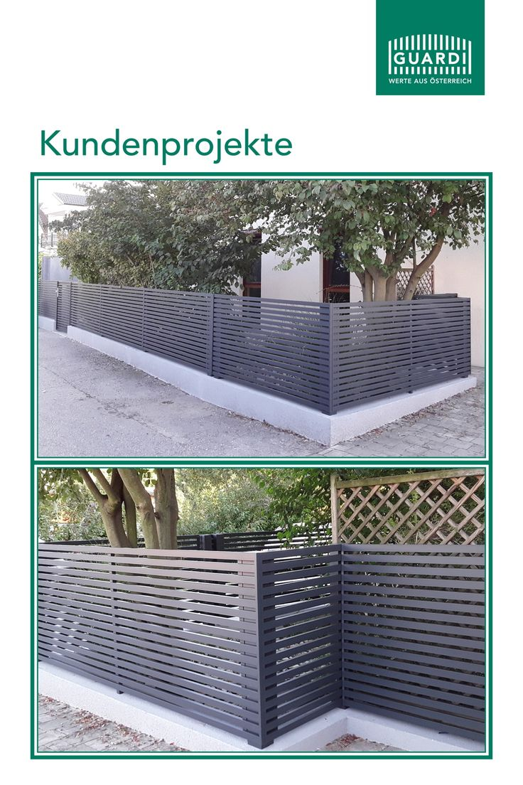 Aluzaun   Selbermachen   Modern   Zaun ideen, Garten zaun ideen ...