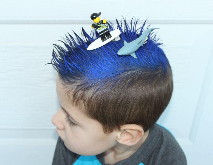Crazy Hair Day At School Lego Surfer Shark Ocean