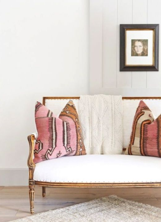Elegant perfection with a boho touch. ~ETS #kilimpillows