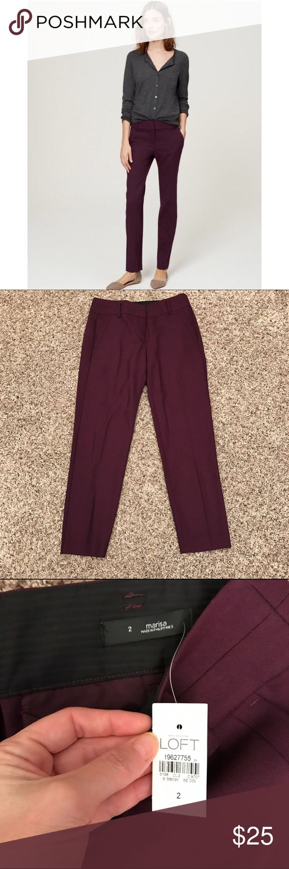 "LOFT Pencil Pants Marisa Fit NWT sz 2 Sold out online. Nwt. Inseam approx 28.25"". LOFT Pants Ankle & Cropped"