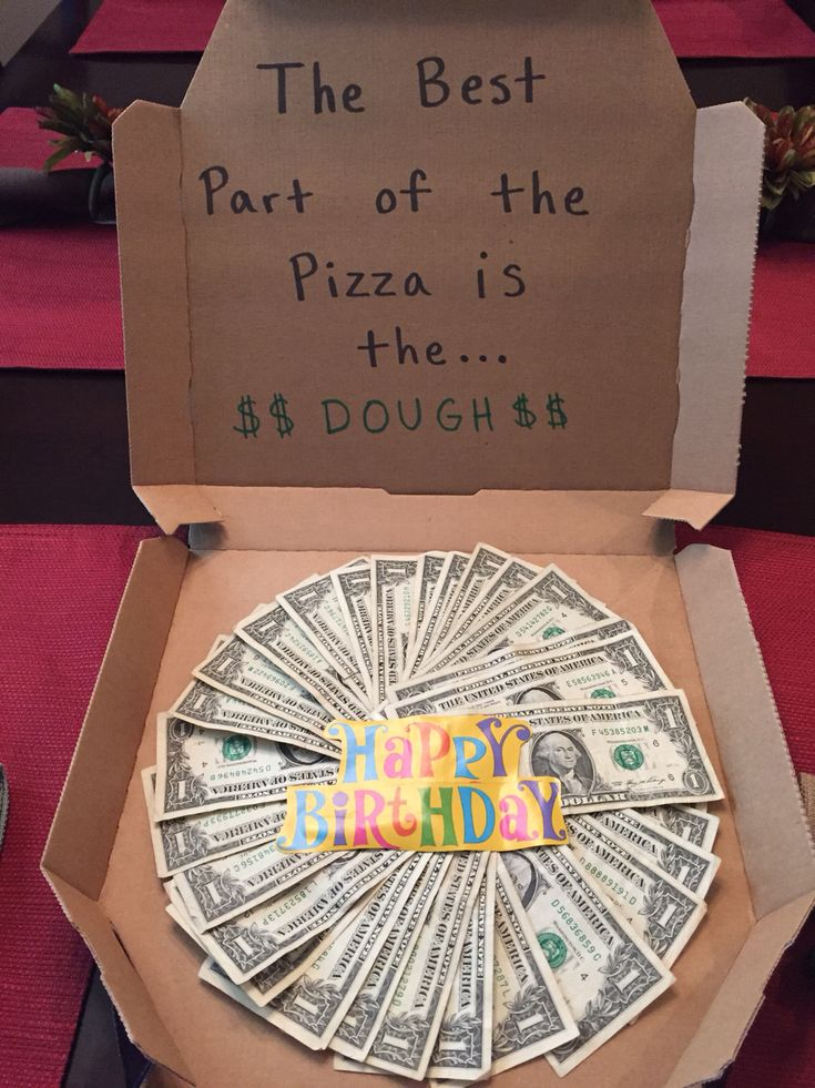 Creative way to give money as a birthday gift!                                                                                                                                                     More