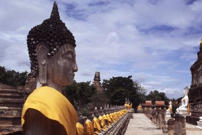 Buddha Statue in Wat Yai Chai Temple