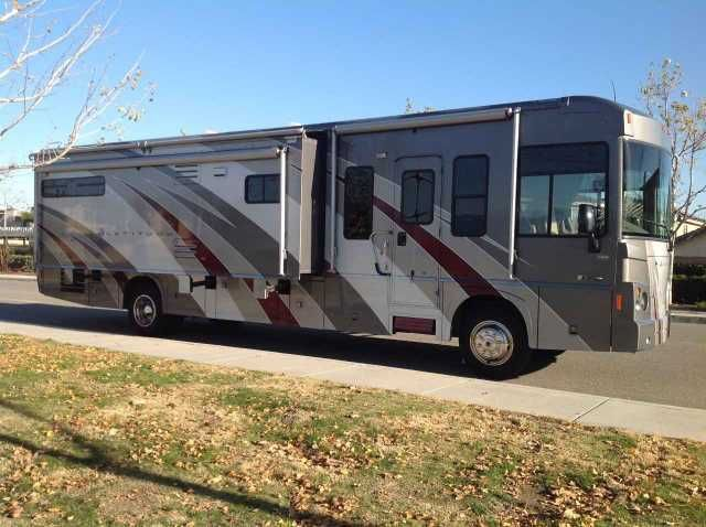 2008 Used Itasca Latitude 39W Class A in California CA.Recreational Vehicle, rv, 2008 Itasca Latitude 39W, 2008 Itasca Latitude 39W, Rear Gas Pusher! Super clean and ready to vacation -- pride of ownership shows! Two monstrous slide outs. Huge master suite with King size bed, large entertaining area + sleeps 6. Better than a diesel pusher: Quieter ride, less expensive to maintain, much lower acquisition cost and still very powerful -- 340HP 8.1L Vortec + Allison 6 speed transmission. Sits on…