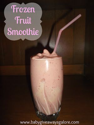 Frozen Fruit #Smoothie #Recipe