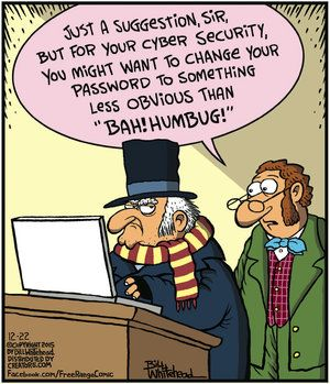 Choosing the right password makes a huge difference in computer security as in this #FreeRange comic. To learn more and become a Certified Information Systems Security Professional, take this college class online - https://cbc.ed4online.com/career-course/certified-information-systems-security-professional-cissp