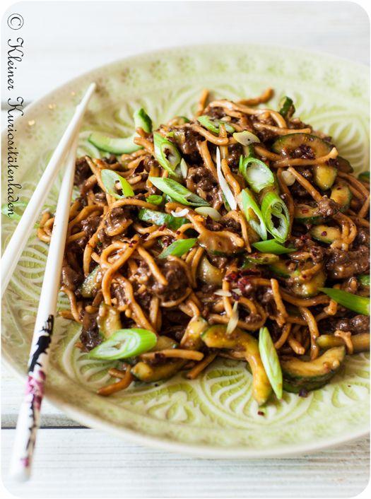 """Würzige Nudeln """"Sichuan"""""""