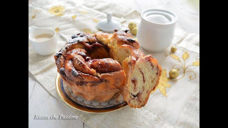 Ciambella angelica ai frutti di bosco, con pan brioche senza burro, alla ricotta, soffice soffice