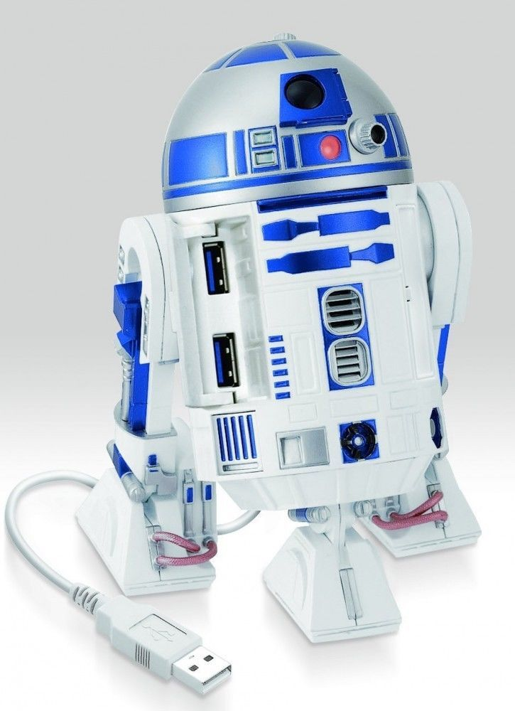 Star Wars R2-D2 USB HUB Figure Sound アクション Doll Force Awakens Japan NEW F/S #Cube