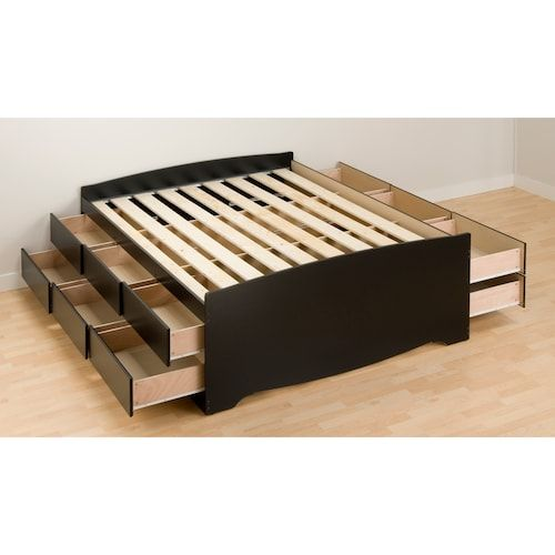 Prepac Queen 12 Drawer Platform Storage Bed Storage Decor Bedroom Storage Furniture Bedroom Prepac