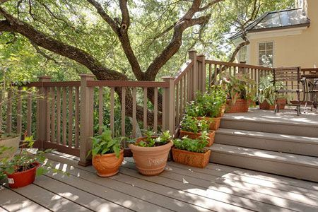 Best 25 composite deck railing ideas on pinterest trex for Evergrain decking vs trex