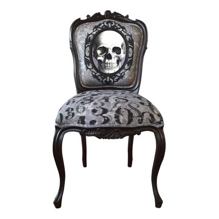 DÖSKALLE STOL - BLACK SKULL CHAIR
