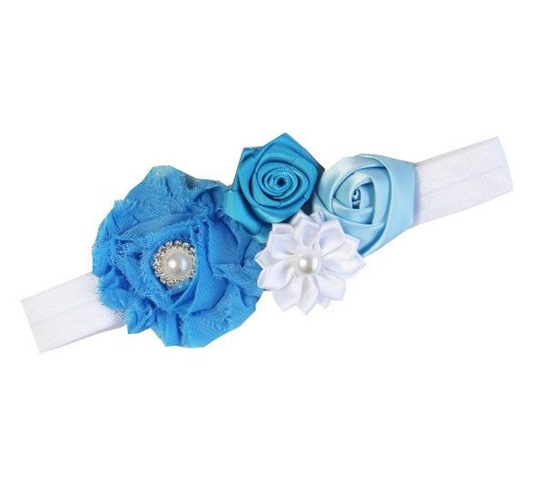 Haarband stoffig aqua blauw luxe