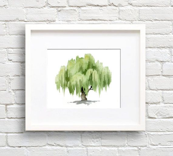 Willow Tree Art Print Wall Decor by EveryDayShenanigans on Etsy