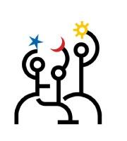"""Logo """"Encuentro de Creadores"""", Estudio de Manuel Estrada."""