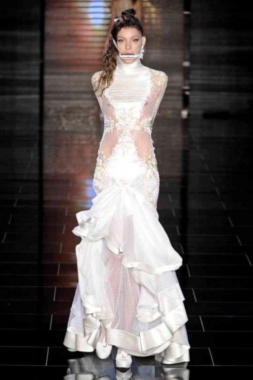 Samuel Cirnansck Bridal 2011 Collection: Freakish Wedding Dresses | Sour Cherry