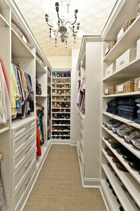 Organized Living - closets - walk in closet, glam closet, closet ideas, closet carpeting, carpet in closet, closet carpeting, carpeting in c...