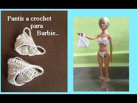 Pantis a crochet para Barbie