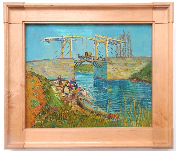 Hoge Veluwe - Museum Kröller-Müller. Vincent van Gogh (1853/1890) - 'Brug te Arles (Pont de Langlois)' - maart 1888 - olieverf op doek. Foto: G.J. Koppenaal - 30/8/2017.