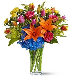 12 best easter gifts images on pinterest bouquets corporate color sensation bouquet easter gift basket with its striking colors and bold blooms this fantastic negle Image collections