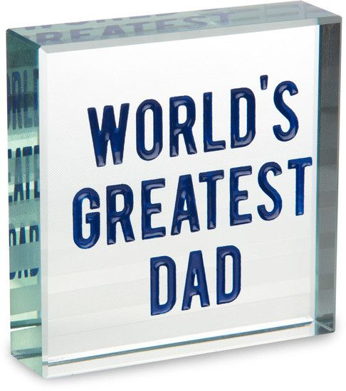 World's Greatest Dad - Glass Plaque