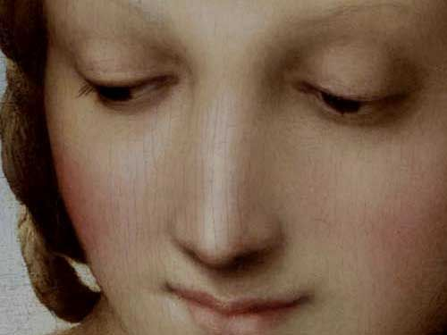 Madonna in the Meadow (detail) by Raphael, 1505-06