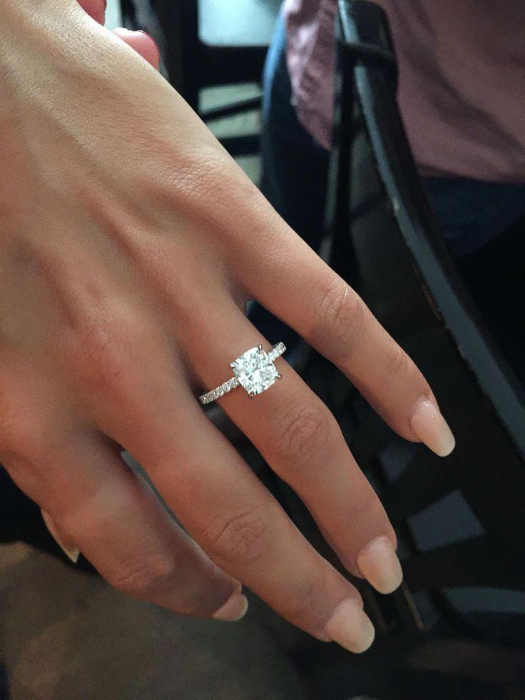 cushion wedding ring really are eye-catching Pic# 6221004328 #cushionweddingring