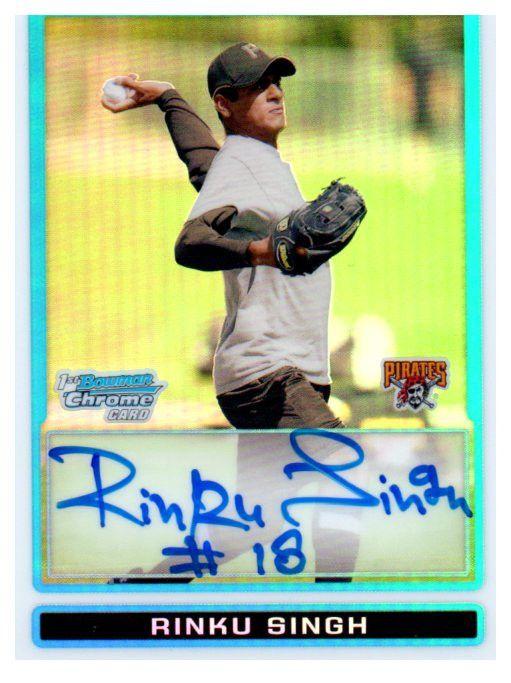2009 Bowman Chrome Rinku Singh Refractor Autograph Card /500 Pirates