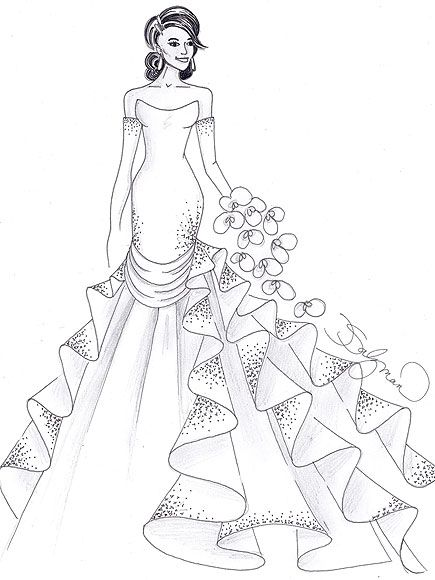 42 best WeddingBride Coloring Pages images on Pinterest Adult
