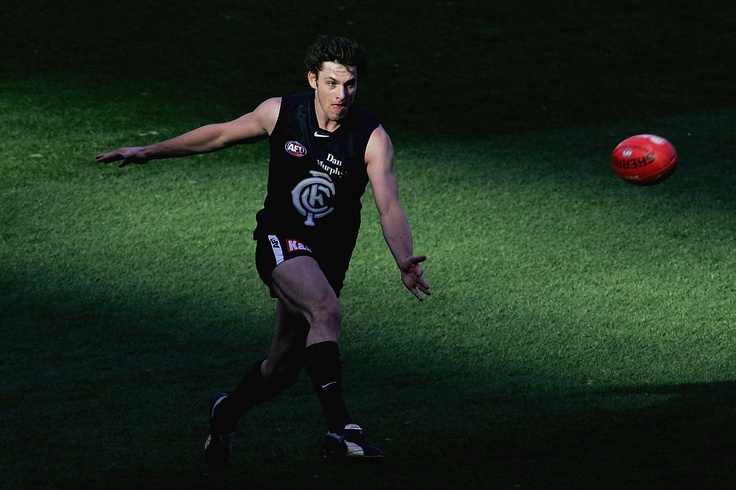 In action during the round 16 AFL match between against Fremantle on July 17, 2005