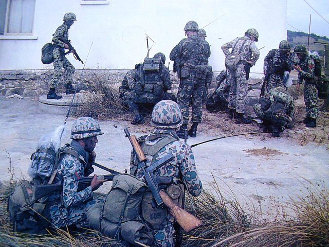 Turkish soldiers in Northern Cyprus during Operation Attila, 1974.
