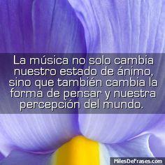 La música no solo cambia nuestro estado de ánimo sino que también cambia la forma de pensar y nuestra percepción del mundo.