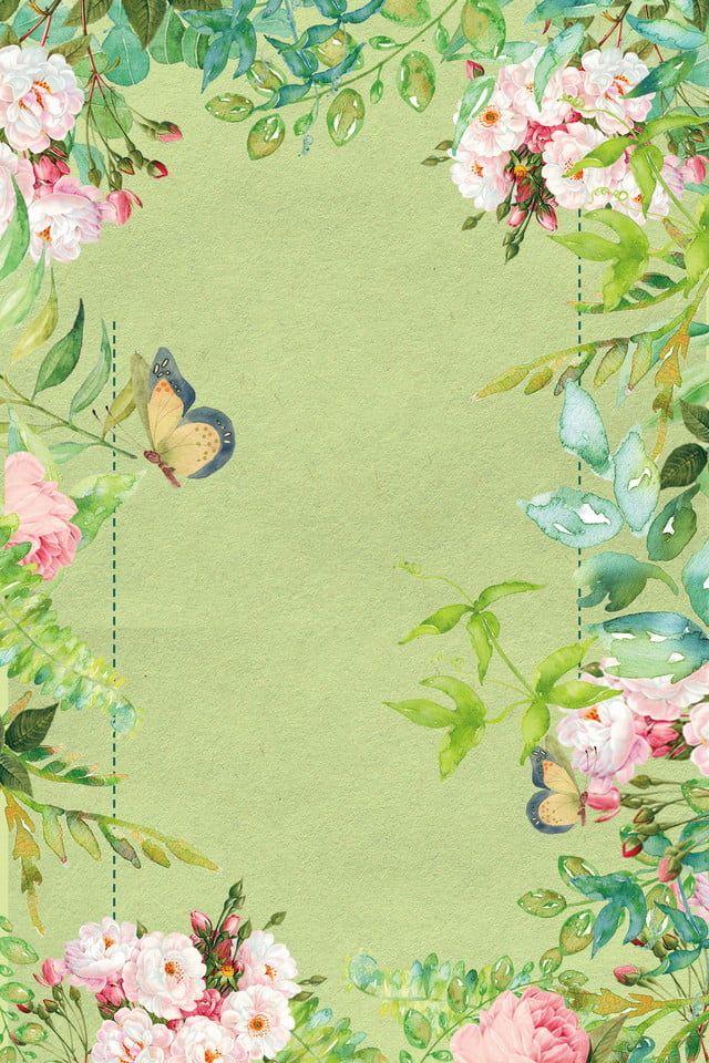 Flower Butterfly Light Color Fashion Simple Style Arte Flor Poster Floral Grafico Flor