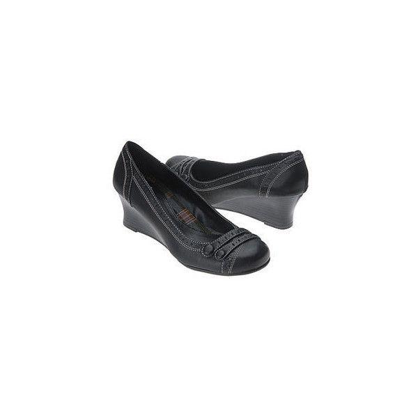 HOT KISS HARPO BLACK CASUAL WEDGE Heels Pumps WOMEN'S SHOES Size 6.5 NIB