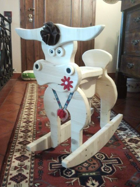 wooden rocking cow  by SeveArt