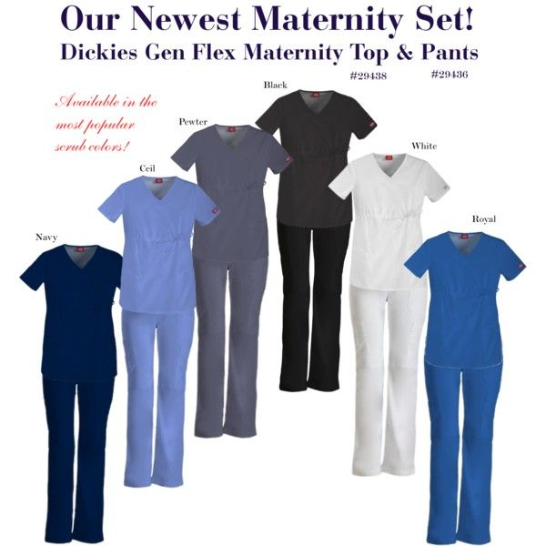 """Dickies Maternity Scrub Top & Pants"" by shopadvance on Polyvore"
