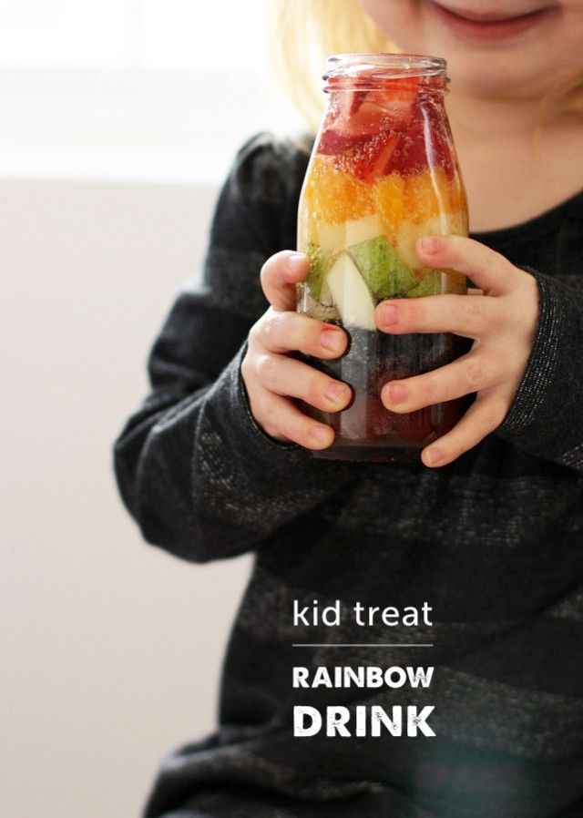 Such a quick and easy way to celebrate St. Paddy's Day with the kids - love the sherbet version at the end of the post!