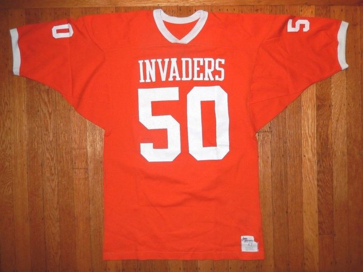 VINTAGE 60'S INVADERS HIGH SCHOOL FOOTBALL JERSEY OLYMPIC SPORTSWEAR MEN'S 42 #OlympicSportingGoods #Jerseys