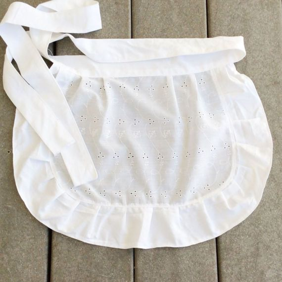 Check out Toddler White Apron Eyelet Fabric Apron with Ruffles Pretty French Maid apron, Old Fashioned Apron for Easter Small White Apron for Girl on blingscarves