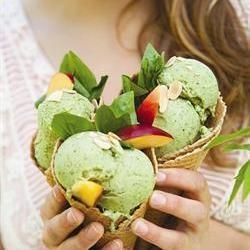 Basil ice-cream/Basiliekruidroomys