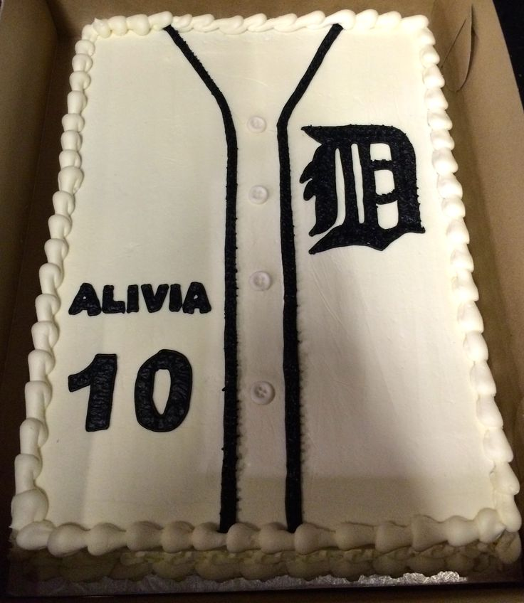 Detroit Tigers Cake, Sports Party, Baseball party