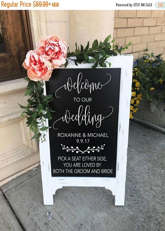 Welcome To Our Wedding Sign  Wedding Chalkboard  Pick A Seat