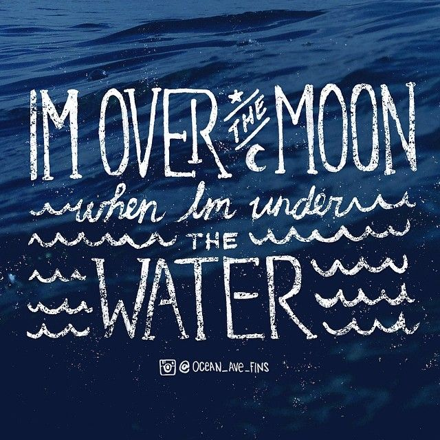 Over the MOON when I'm under WATER #DiversDiscountFlorida #FortLauderdale #diving #snorkel #adventure #inspiration #quotes